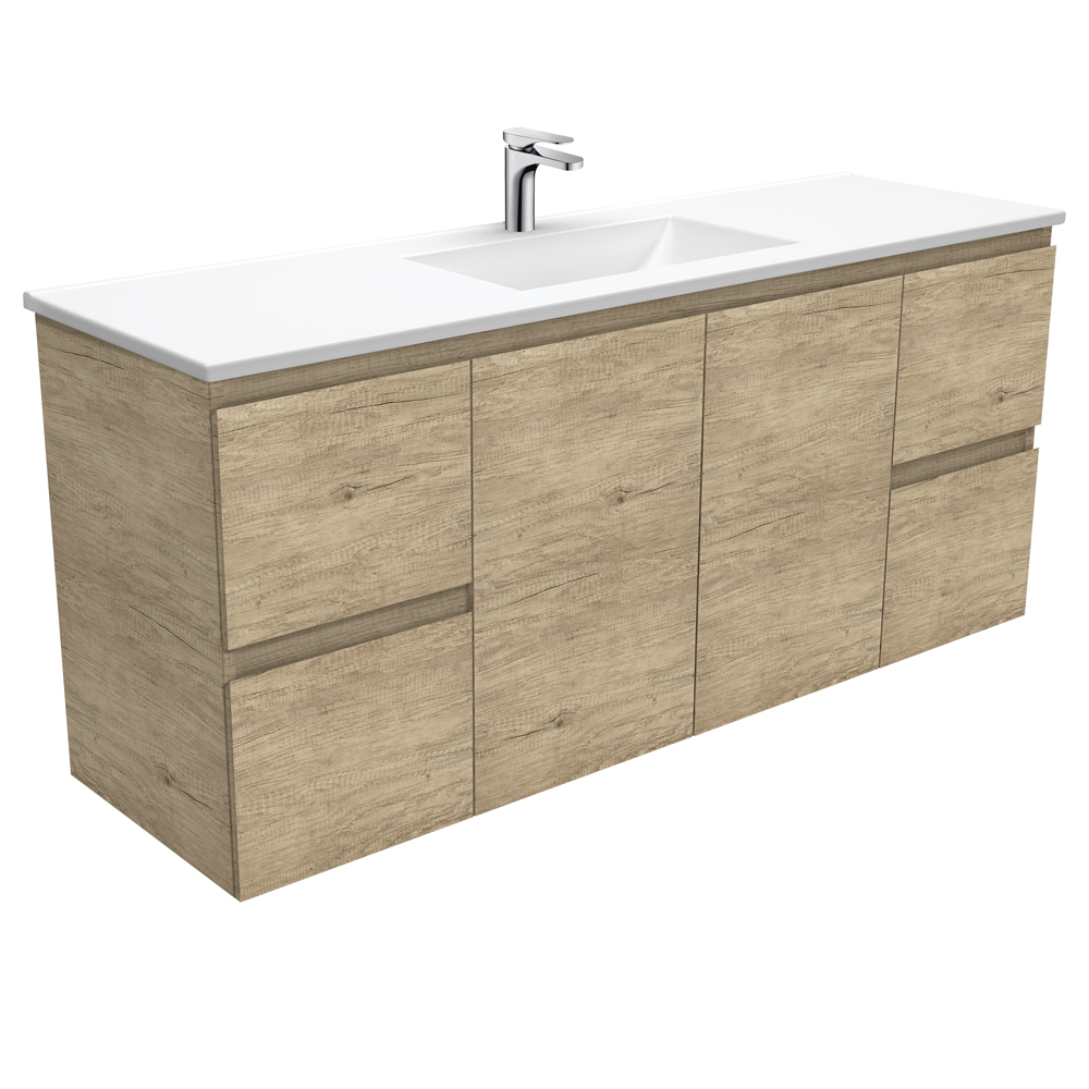 Vanessa Edge Scandi Oak 1500 Single Bowl Wall-Hung Vanity