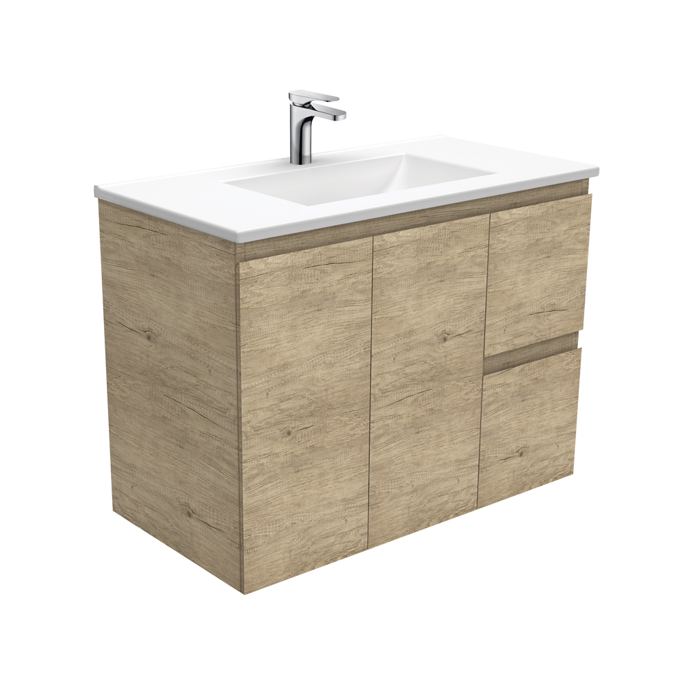 Vanessa Edge Scandi Oak 900 Wall-Hung Vanity