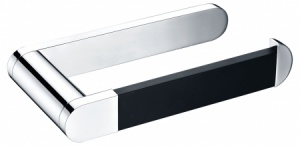 Linx Toilet Roll Holder Chrome & Matt Black